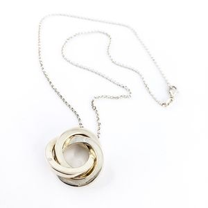 Sterling silver artisan layer necklace + pendant